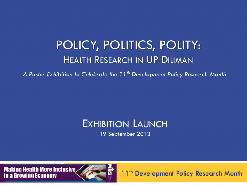 Photo Documentation of Policy, Politics, Polity: Health Research in UP Diliman