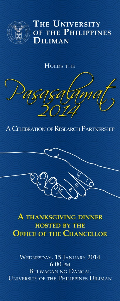 PASASALAMAT 2014: A Celebration of Research Partnership