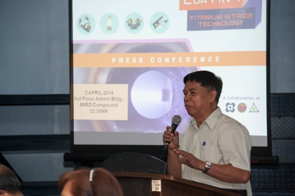 Dr. Henry J. Ramos addresses the media during a press conference at the MIRDC Compound in Bicutan, Taguig City.  (OVCRD file photo)