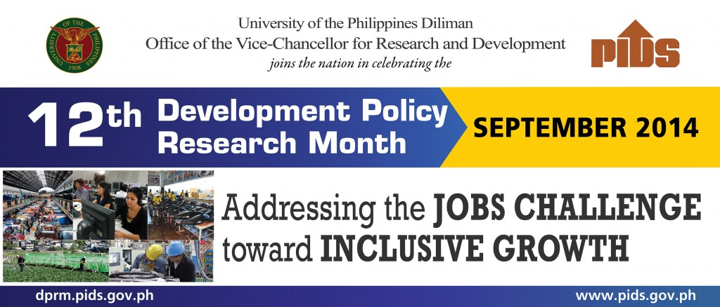 UP Diliman supports the 12th Development Policy Research Month (DPRM) 2014