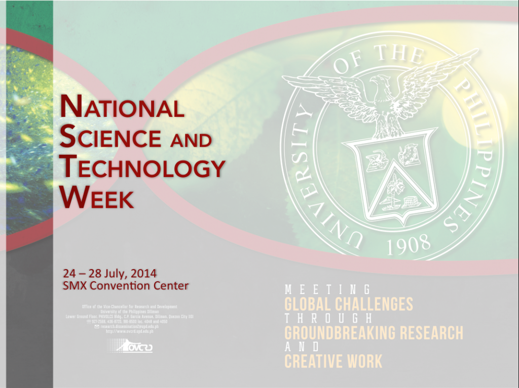 National Science and Technology Week (NSTW) 2014 Photo Documentation