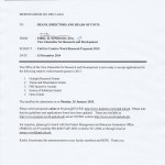Memorandum FRN 14-016: Call for Creative Work/Research Proposals 2015