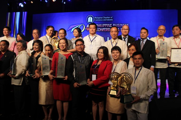 Winners and finalists of the 2015 AMY IP Awards during the awarding ceremony last 27 October 2015 at the Marriott Hotel Manila.