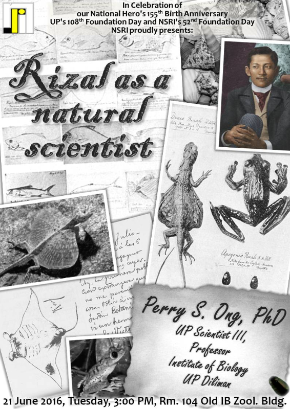 Rizal as a natural scientist