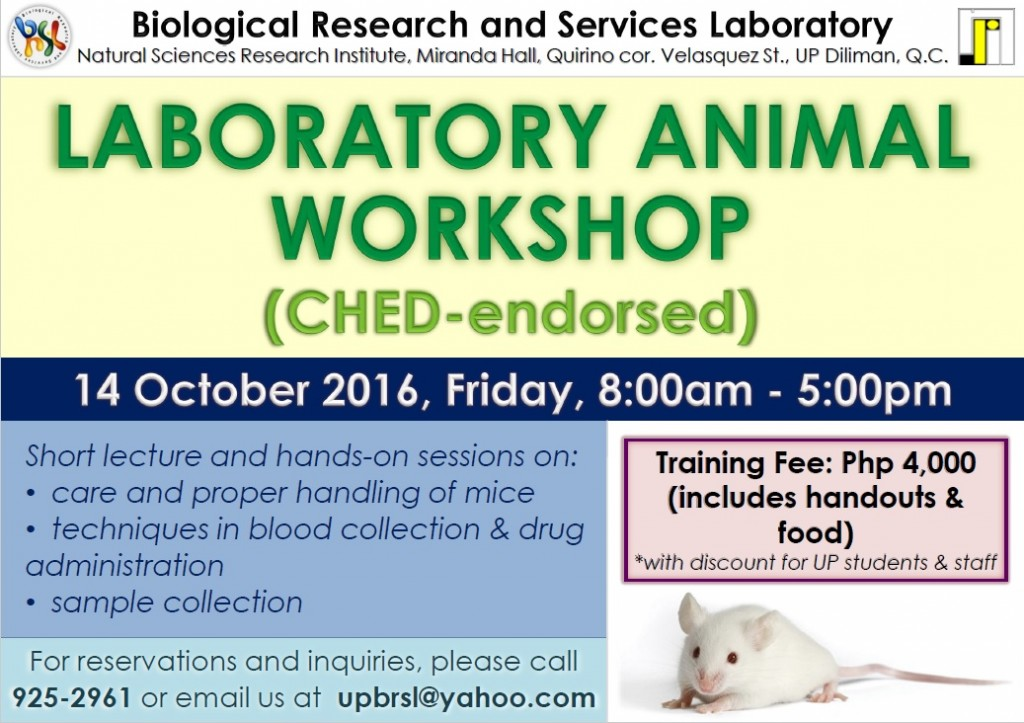Laboratory Animal Workshop (CHED endorsed)