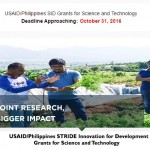 USAID/Philippines STRIDE Innovation for Development Grants for Science and Technology