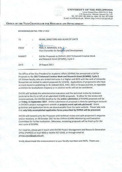 OVCRD Memo FRN 17-052 CFP to 2017 ECWRG Cycle 2-page-001